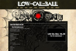 Low-Cal-Ball Official Website リニューアル