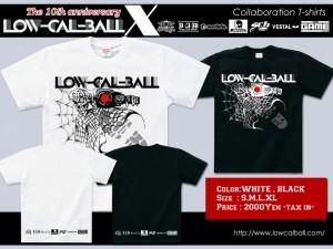 Low-Cal-Ball コラボレーションTシャツ発売決定!