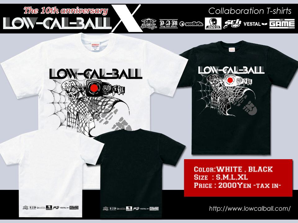 Low-Cal-Ball コラボレーションTシャツ!